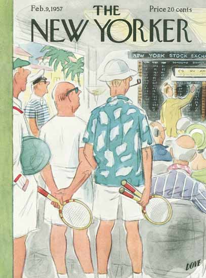 Leonard Dove The New Yorker 1957_02_09 Copyright | The New Yorker Graphic Art Covers 1946-1970