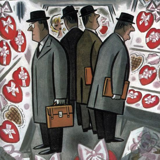 Leonard Dove The New Yorker 1960_02_13 Copyright crop | Best of Vintage Cover Art 1900-1970