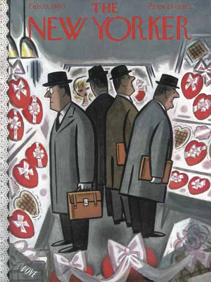 Leonard Dove The New Yorker 1960_02_13 Copyright | The New Yorker Graphic Art Covers 1946-1970