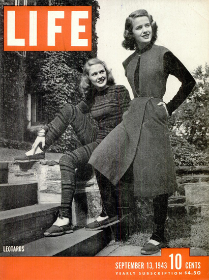 Leotards 13 Sep 1943 Copyright Life Magazine | Life Magazine BW Photo Covers 1936-1970