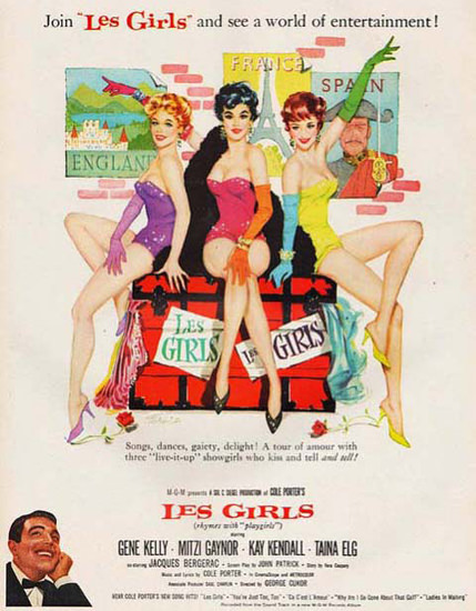 Les Girls Movie Gene Kelly Mitzi Gaynor   Sex Appeal Vintage Ads and Covers 1891-1970