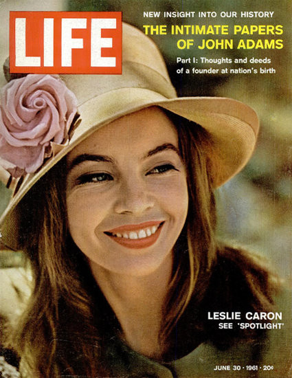 Leslie Caron Marseilles 30 Jun 1961 Copyright Life Magazine | Life Magazine Color Photo Covers 1937-1970