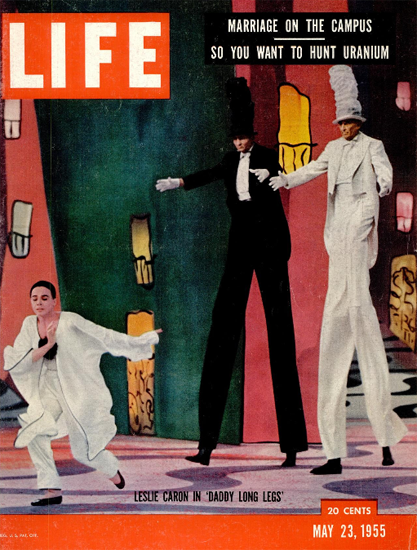Leslie Caron in Daddy Long Legs 23 May 1955 Copyright Life Magazine | Life Magazine Color Photo Covers 1937-1970