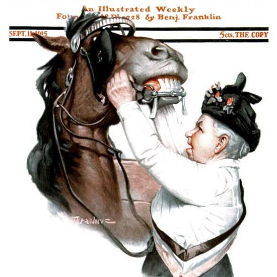 Leslie Thrasher Saturday Evening Post 1915_09_11 Copyright crop | Best of Vintage Cover Art 1900-1970