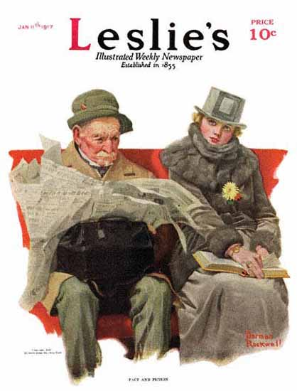 Leslies Illustrated Fact And Fiction 1917 Norman Rockwell | 400 Norman Rockwell Magazine Covers 1913-1963