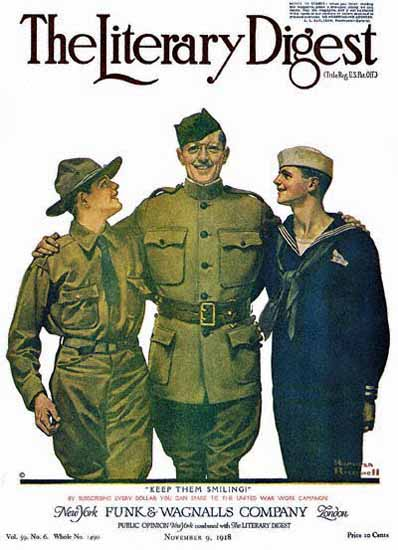 Leslies Illustrated Keep Them Smiling 1918 Norman Rockwell | 400 Norman Rockwell Magazine Covers 1913-1963