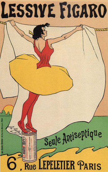 Lessive Figaro Paris France Laundry Detergent | Sex Appeal Vintage Ads and Covers 1891-1970