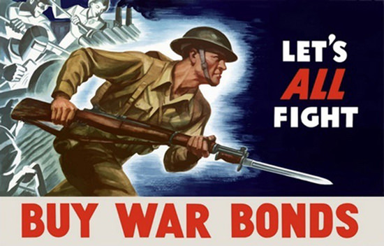 Lets All Fight Soldier Workers | Vintage War Propaganda Posters 1891-1970