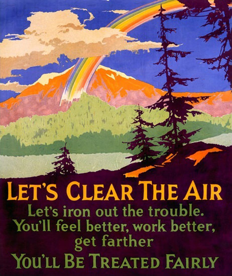 Lets Clear The Air Motivational Rainbow | Vintage Ad and Cover Art 1891-1970