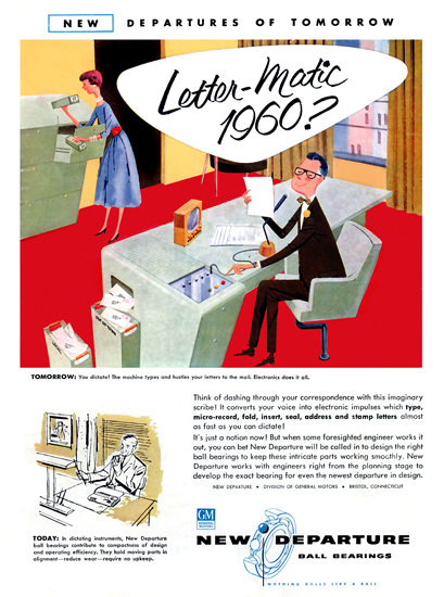 Letter-Matic 1960 GM New Departure | Vintage Ad and Cover Art 1891-1970
