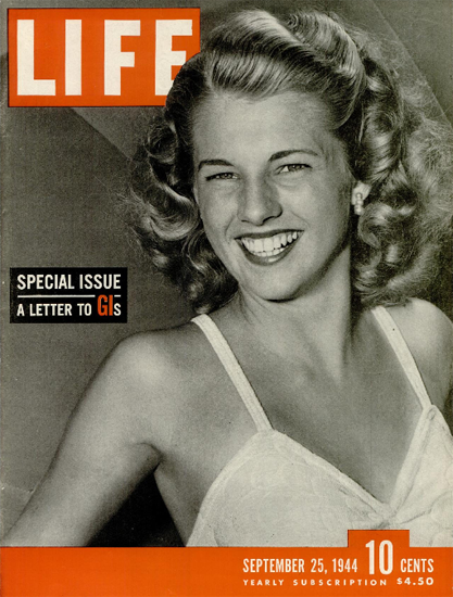 Letter to GIs Special Issue 25 Sep 1944 Copyright Life Magazine | Life Magazine BW Photo Covers 1936-1970