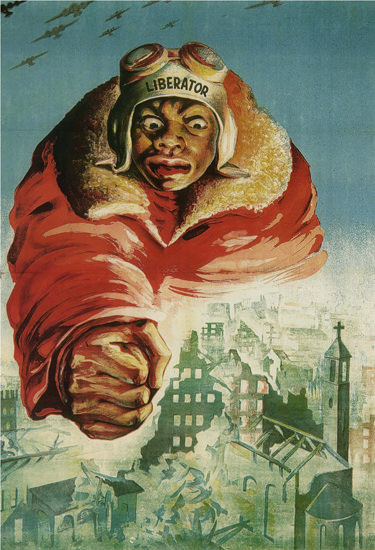 Libarator Italy Italia Anti American Propaganda | Vintage War Propaganda Posters 1891-1970