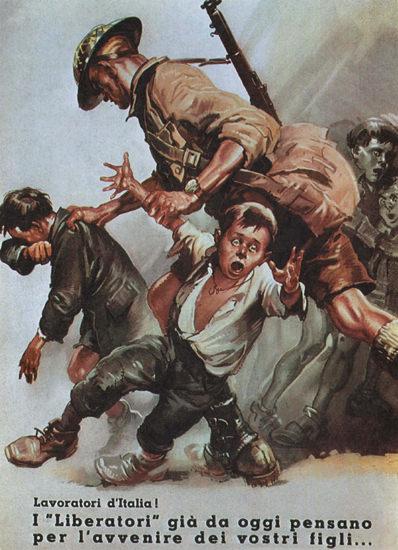 Liberatori The Liberators And Our Children Italy | Vintage War Propaganda Posters 1891-1970
