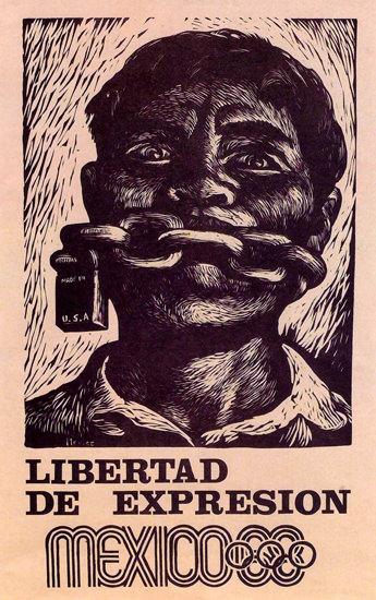 Libertad De Expresion Mexico Olympics 1968 | Vintage War Propaganda Posters 1891-1970