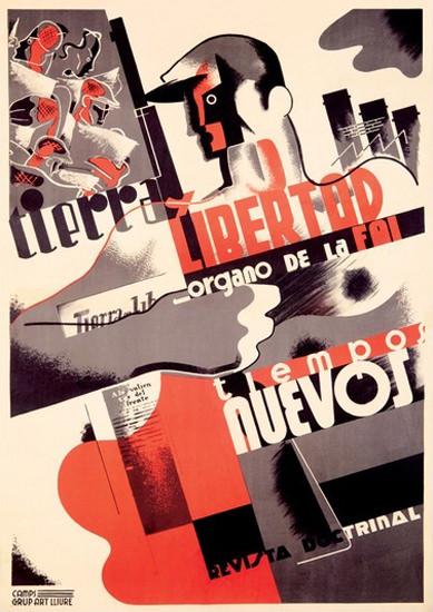 Libertad Tiempos Nuevos | Vintage War Propaganda Posters 1891-1970