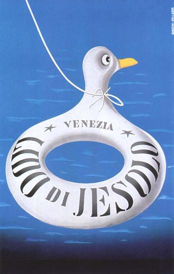 Lido Di Jesolo Venezia Italy Italia Gull | Vintage Travel Posters 1891-1970
