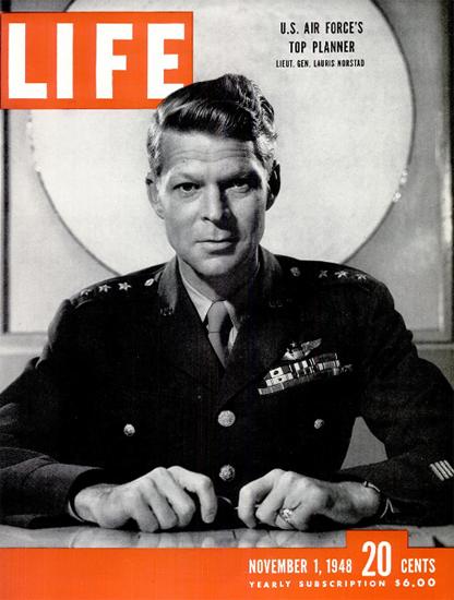 Lieut General Lauris Norstad 1 Nov 1948 Copyright Life Magazine | Life Magazine BW Photo Covers 1936-1970
