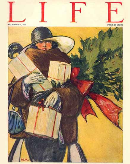 Life Humor Magazine 1922-12-21 Copyright | Life Magazine Graphic Art Covers 1891-1936