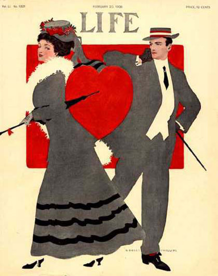 Life Magazine Copyright 1908 Heart Love And Couple | Sex Appeal Vintage Ads and Covers 1891-1970