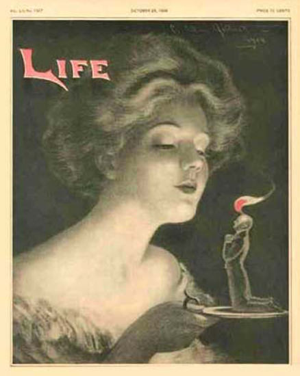 Life Magazine Copyright 1908 The Candle Of Love | Sex Appeal Vintage Ads and Covers 1891-1970