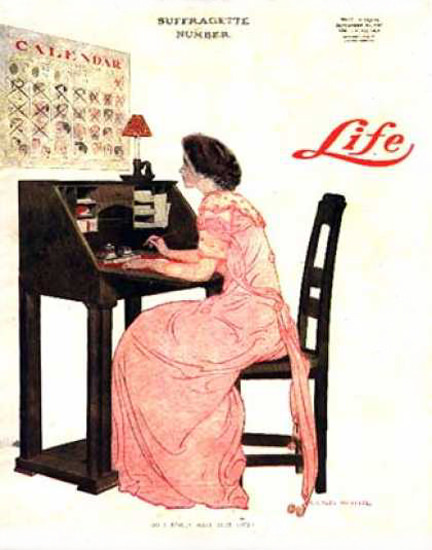 Life Magazine Copyright 1909 Calendar Suffragetic Number   Vintage Ad and Cover Art 1891-1970
