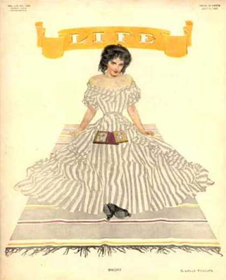 Life Magazine Copyright 1909 Girl On A Blanket   Sex Appeal Vintage Ads and Covers 1891-1970