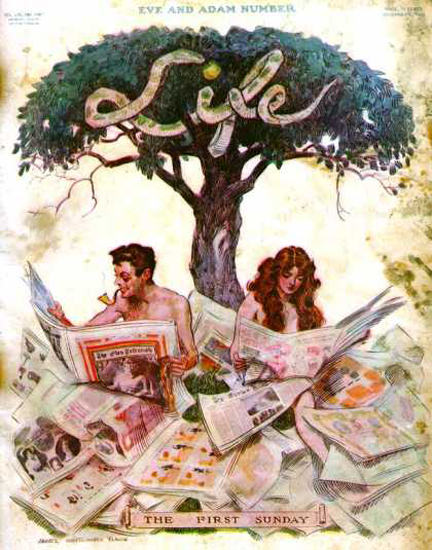 Life Magazine Copyright 1910 The First Sunday Eve | Sex Appeal Vintage Ads and Covers 1891-1970