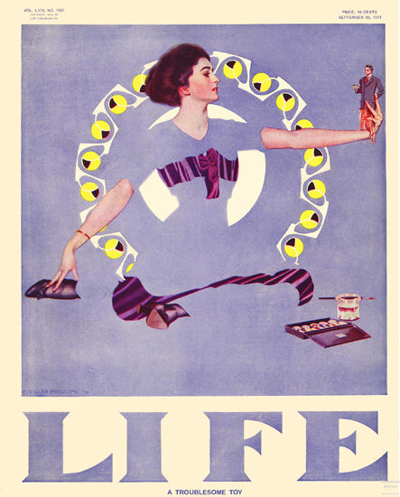 Life Magazine Copyright 1911 The Troublesome Toy   Sex Appeal Vintage Ads and Covers 1891-1970