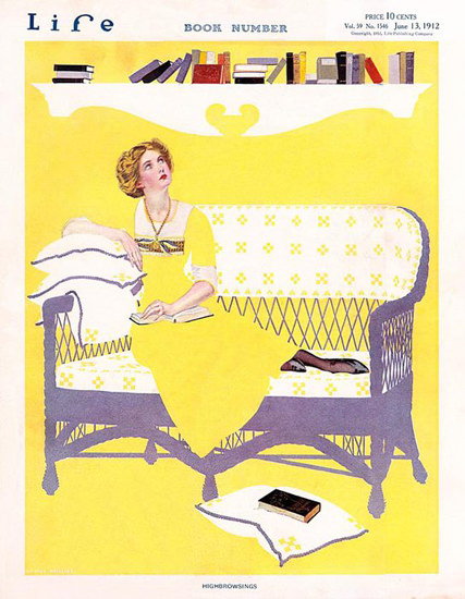 Life Magazine Copyright 1912 Book Number High Browsings | Vintage Ad and Cover Art 1891-1970