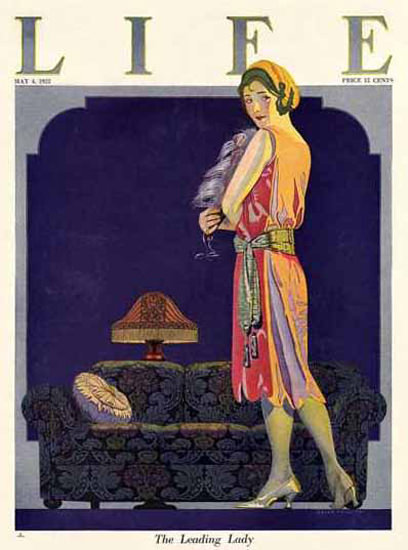 Life Magazine Copyright 1922 The Leading Lady | Sex Appeal Vintage Ads and Covers 1891-1970