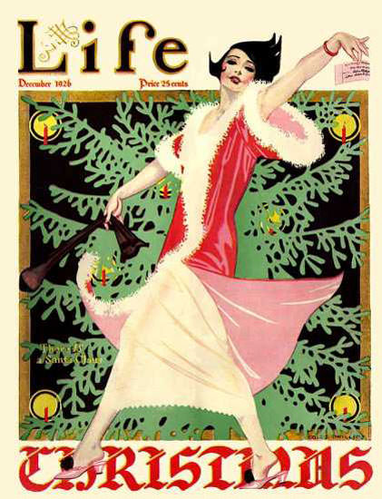 Life Magazine Copyright 1926 Christmas Lady And The Tree   Sex Appeal Vintage Ads and Covers 1891-1970