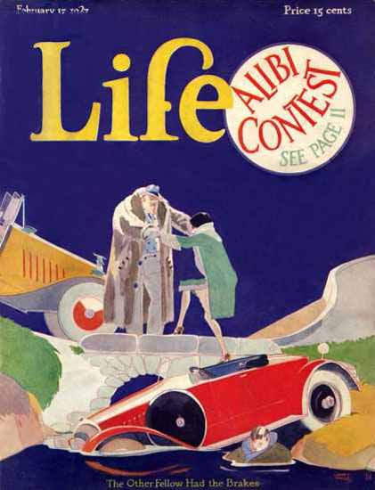 Life Magazine Copyright 1927 Alibi Contest Other Fellow | Sex Appeal Vintage Ads and Covers 1891-1970