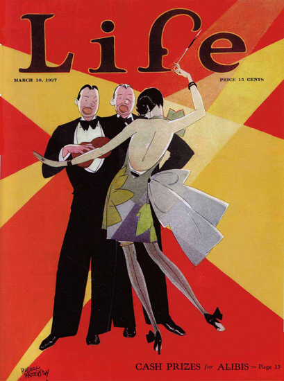 Life Magazine Copyright 1927 Cash Prizes for Alibis | Sex Appeal Vintage Ads and Covers 1891-1970