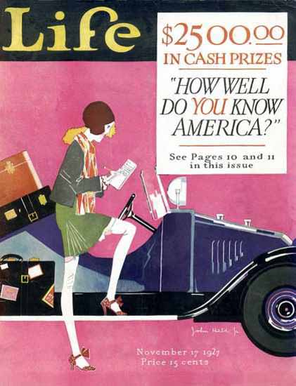 Life Magazine Copyright 1927 How Well You Know America | Sex Appeal Vintage Ads and Covers 1891-1970