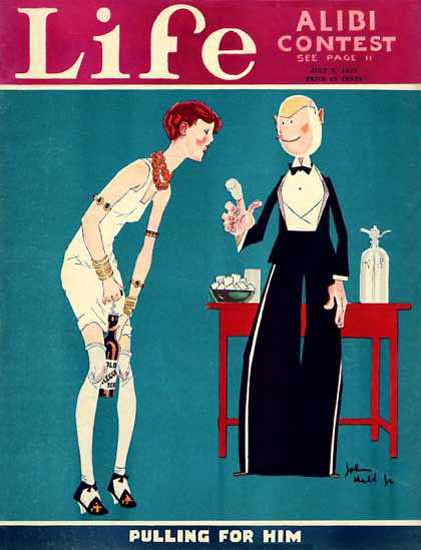Life Magazine Copyright 1927 Pulling For Him Alibi Tests | Sex Appeal Vintage Ads and Covers 1891-1970