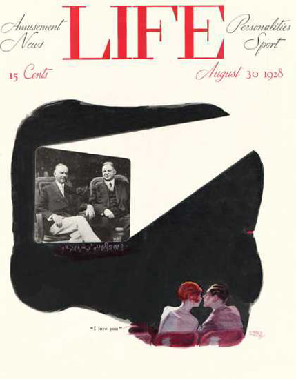 Life Magazine Copyright 1928 I Love You Movie Theater | Vintage Ad and Cover Art 1891-1970
