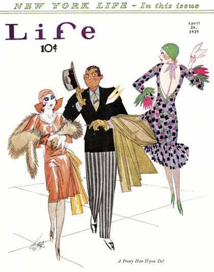 Life Magazine Copyright 1929 A Pretty New York Life | Sex Appeal Vintage Ads and Covers 1891-1970