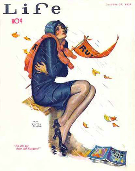 Life Magazine Copyright 1929 Baseball Season I Die For | Sex Appeal Vintage Ads and Covers 1891-1970