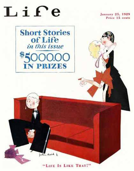 Life Magazine Copyright 1929 Life Is Like That Short Stories | Sex Appeal Vintage Ads and Covers 1891-1970