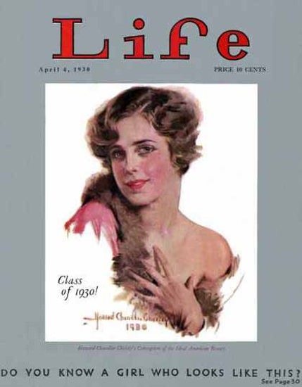 Life Magazine Copyright 1930 Class Of 1930 A Girl Like This | Sex Appeal Vintage Ads and Covers 1891-1970