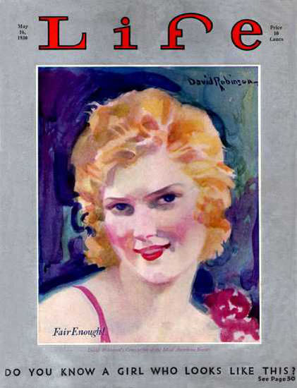 Life Magazine Copyright 1930 Fair Enough A Girl Like This | Sex Appeal Vintage Ads and Covers 1891-1970