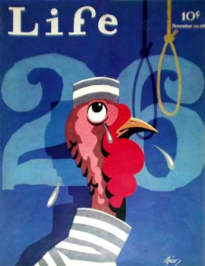 Life Magazine Copyright 1931 Turkeys Capital Punishment | Vintage Ad and Cover Art 1891-1970