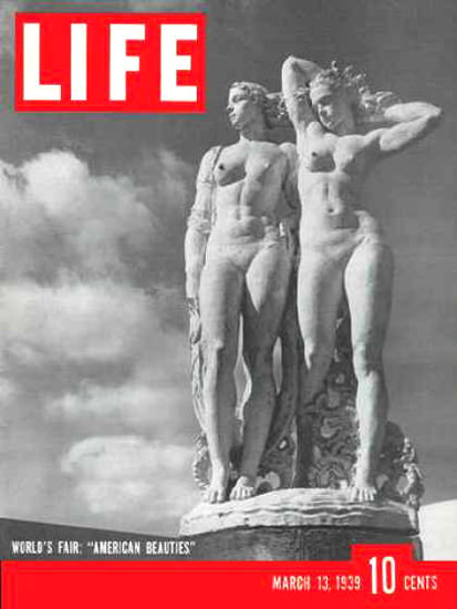 Life Magazine Copyright 1939 New York American Beauties | Sex Appeal Vintage Ads and Covers 1891-1970