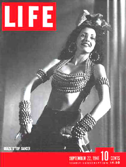 Life Magazine Copyright 1941 Eros Volusia Brazils Dancer | Sex Appeal Vintage Ads and Covers 1891-1970