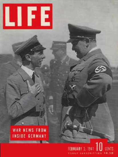 Life Magazine Copyright 1941 Goebbels And Goering | Vintage Ad and Cover Art 1891-1970