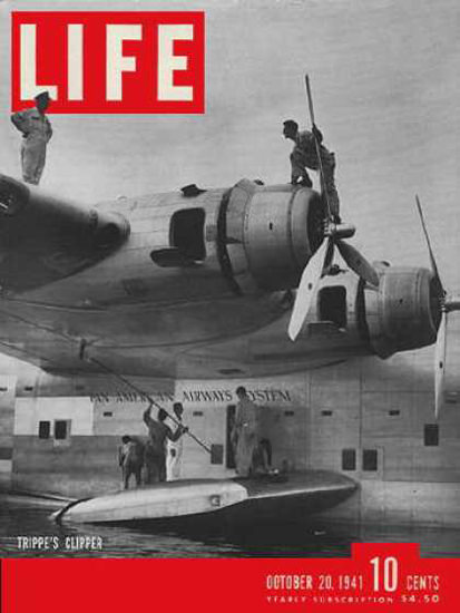 Life Magazine Copyright 1941 Pan American Airways Clipper | Vintage Ad and Cover Art 1891-1970