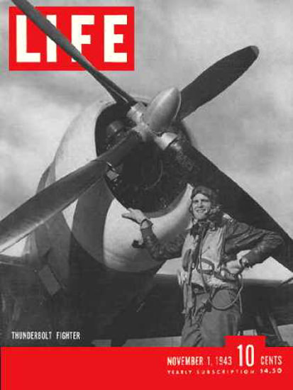 Life Magazine Copyright 1943 P-47 Thunderbolt Fighter | Vintage Ad and Cover Art 1891-1970