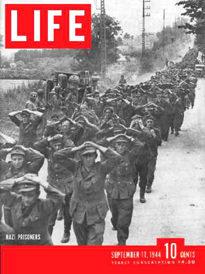 Life Magazine Copyright 1944 Captured Nazis Prisoners | Vintage Ad and Cover Art 1891-1970