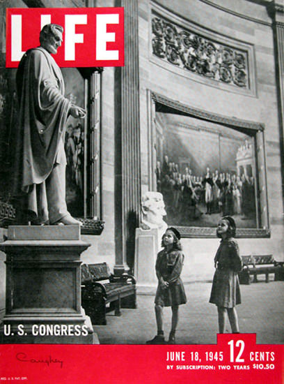 Life Magazine Copyright 1945 US Congress Abraham Lincoln | Vintage Ad and Cover Art 1891-1970