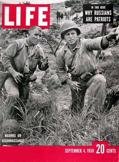 Life Magazine Copyright 1950 Marines In Korea | Vintage Ad and Cover Art 1891-1970